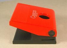 CASCO M-210 Spain 1976 DERLIN PERFORADORA de OFICINA Plast. Rojo Kartell Vintage