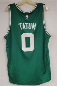 BOSTON CELTICS JERSEY #0 JAYSON TATUM JERSEY GREEN MENS SIZE LARGE NBA JERSEY