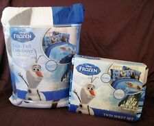 Disney Frozen Olaf Twin/Full Comforter and Twin Sheets 4 pc Set
