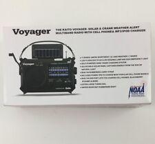 Voyager KA500 Solar/crank Weather Shortwave, 11 Bands, Cell Charger! Survival!