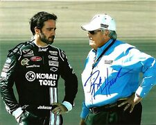 Jimmie Johnson & Rick Hendrick NASCAR Dual Signed 8x10 Photo