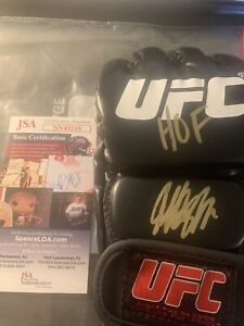 "Georges St-Pierre Autographed Signed UFC Glove ""HOF"" Inscription JSA COA"