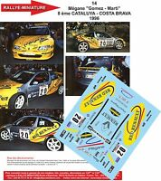 DECALS 1/43 REF 14 RENAULT MEGANE MAXI GOMEZ RALLYE ESPAGNE CATALOGNE 1996 RALLY