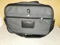 Samsonite Charcoal Gray Carry On Overnight Laptop Bag Luggage Briefcase W Strap
