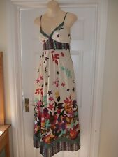 Ladies New Look Floral Maxi Dress Size 8 Cotton