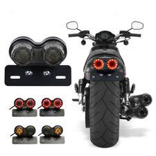 LED Brake Tail Turn Signal Light License Plate For Bobber Cafe Racer Motorcycles