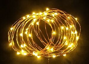 5 Pack - 33ft - Warm White LED Battery Operated fairy decorative lights