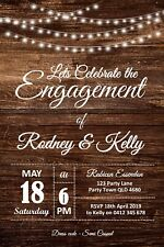 Personalised Wood Themed Engagement Party Invitation – You Print