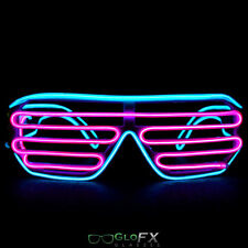 GloFX Luminescence Shutter Frames- Cyan and Pink Rave EDM Diffraction Glow Party
