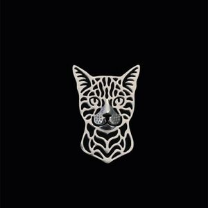 Bengal Cat Metal Pin Badge Brooch Jewellery Cute Kitty 4 Colours Gorgeous Gift