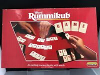 WORD RUMMIKUB Family Tile Rack Letters game Spears 1989 8+ 2-4 Player Complete