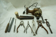 VINTAGE WATCH REPAIR TOOLS PART LOT LATHE MOTOR WATCHMAKER JEWELER CLOCKMAKER