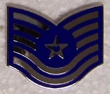 Hat Lapel Push Tie Tac Pin Air Force Rank Insignia Technical Sergeant E-6 NEW