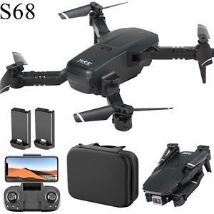 S68 Mini RC Drone Pieghevole 4K Wifi FPV Gesto Foto 2 Batteria sensore gravità