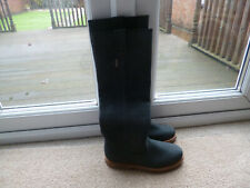 BNWOB PENELOPE CHILVERS NAVY BLUE KNEE LENGTH BOOTS, 38,5.