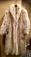 """FUR ~  NATURAL COYOTE ~ Full length 27"""" Custom Coat !  Size 8/10"""