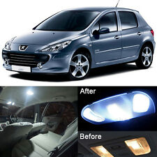 Xenon White LED Full Interior Light Kit For Peugeot 307 CC Cabriolet (8pcs)