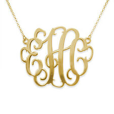 """2"""" Oversized Monogram Necklace in 18k Gold Plated - Personalized (USA Seller)"""