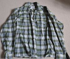 "Men's Long Sleeve Shirt, Duffer Of St. George, Size L, 46"" Chest, Green Check,"