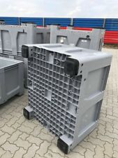 HDPE Palettenbox Big Box 670L Kunststoff Behälter mit 4 Füßen 120 x 100 x 80 cm