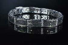Classic 570 Rich Black Onyc 6.89CT Stone In Real 925 Silver Unisex Fine Bracelet