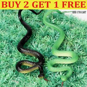 Realistic Soft Rubber Fake Snake Toy Garden Props Joke Prank Gift Halloween QN