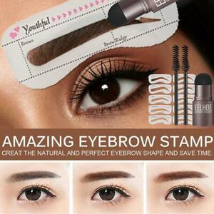 One Step Eyebrow Stamp Shaping Professional Eye Brow Gel Stamp Makeup Stencils T