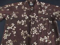 Tommy Bahama Mens Hawaiian Aloha Button Front Short Sleeve Linen Shirt Medium M