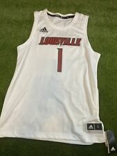 Adidas NCAA Louisville Cardinals Basketball Swingman Jersey #1 White Mens Size L