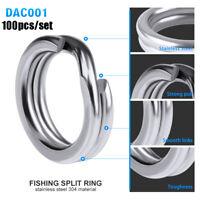 """8 # double une connecteur de poissons les """" l'acier inoxydable anneaux de pêche"""