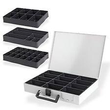Metall Sortimentskasten Sortimentskoffer Kleinteilekoffer mit Einleger 12 Fächer
