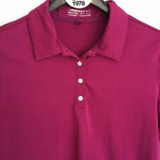 NIKE Golf Fit Dry Long Sleeve Polo Shirt Size M 8-10 Purple Stripe Stretch Shirt