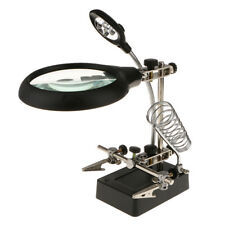 LED Loup Magnifier Magnifying Glass with Clamp and Clip for Repair, Modeling