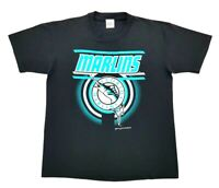 Vintage Florida Marlins 1995 Tee Black Size L Single Stitch T Shirt Logo MLB