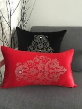 1X Red  Sequins Oblong Cushion Cover 30X50cms