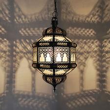 Lanterna Orientale Marocchina Lampada Luce a sospensione arabo Titia 2Kos bianco