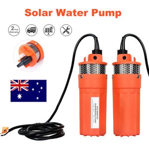 12V 70M Head Submersible Deep Well Solar Bore Water Pump Self-priming w Battery