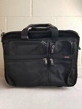 Tumi Black 4 Wheeled Briefcase Softsell Suitcase Luggage