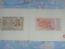 Singapore SG50 COMMEMORATIVE NOTES - UNC FULL SET WITH notes ending 3 4 5 6 7 8