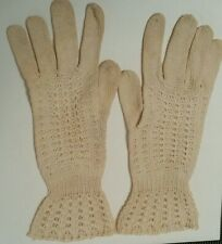 Wearable! circa1910 Antique Victorian Knit Lace Driving Bridal Gloves Steam Punk
