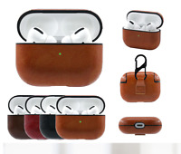 For Apple AirPods  Pro Case  Leather Protective Keychain Hang AirPod 1/2 3 Case