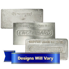 100 Troy oz Engelhard Silver Bar .999 Fine Secondary Market