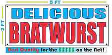 Bratwurst Banner Sign New Larger Size Best Quality for the $ Hot Dogs Brats