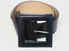 "Antoniazzi Firenze Wide Black Leather Belt - Medium - Length 38"""