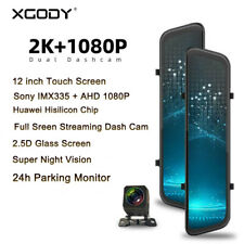 XGODY 12 In Car DVR 2K Dual Lens Touch Screen Dash Cam Camera Video Recorder Mp4