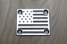American Flag Neck Plate for your Guitar or Bass - Chrome