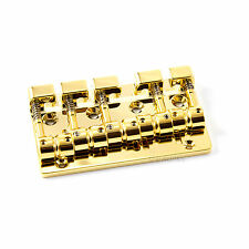 NEW Gotoh J510SJ-5 Quick Release 5-Strings Bass Bridge J510SJ5 w/ Screws - GOLD