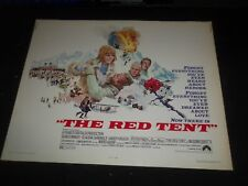 1971 THE RED TENT 1/2 SHEET MOVIE POSTER -SEAN CONNERY, CLAUDIA CARDINALE- P 394