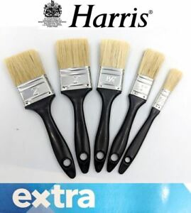 "Harris Extra 5 Piece Paint Brush Set Home DIY Decorating Brushes 1/2"" to 2"""