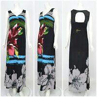 Womens Desigual Long Maxi Dress Multicoloured Floral Print Size M